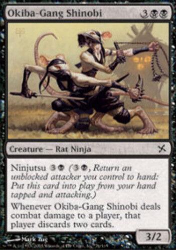 4 Okiba-Gang Shinobi ~ Near Mint Betrayers of Kamigawa 4x x4 Playset MTG Magic B