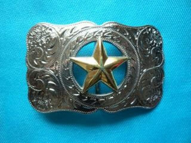 TEXAS LONE STAR COUNTRY & WESTERN RODEO BELT BUCKLE