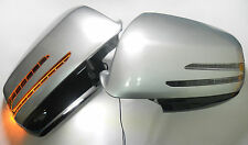 White MERCEDES W204 2007-2009 SLS ARROW MIRROR LED SIDE DOOR VIEW PAIR COVER