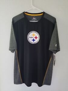 NEW-Majestic-NFL-PITTSBURGH-STEELERS-Cool-Base-Dry-Fit-Shirt-Mens-NWT