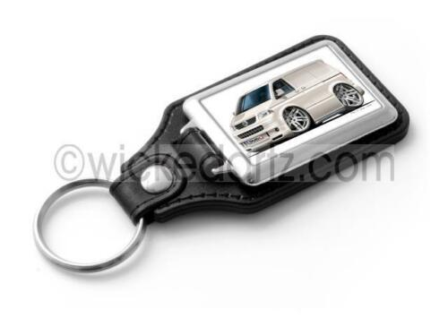 WickedKarz Cartoon Car Volkswagen VW T5 Sportline Van in White Stylish Key Ring