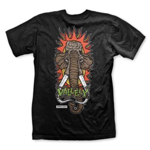 Street Plant Mike Vallely WOOLLY MAMMOTH Skateboard Shirt BLACK MEDIUM New Deal