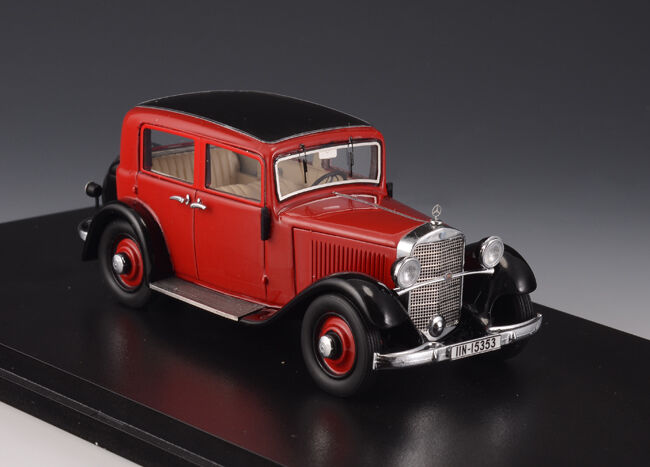 1 43 Modelo GLM limusina Mercedes-Benz MB 170 W15 Saloon rosso 1935