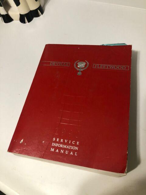 1990 Cadillac Deville Fleetwood Service Manual