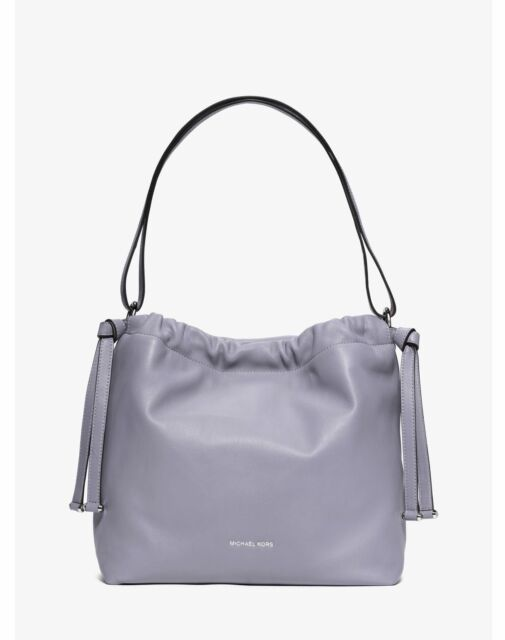 ace81c2b956b Michael Kors Angelina Lilac LRG Shoulder Bag Leather 100 Authentic Pre Owned