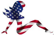 MUDFLAP GIRL USA FLAG STICKER / DECAL
