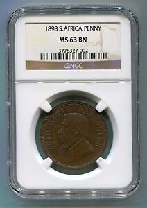 South-Africa-1898-1-Penny-Kruger-era-ZAR-Coin-High-Grade-NGC-Certified-MS-63-Bn