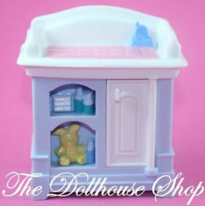 Fisher-Price-Loving-Family-Dollhouse-Nursery-Blue-Baby-Doll-039-s-Changing-Table