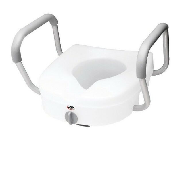 Pleasant Raised Toilet Seat Elevated Locking With Armrests Carex 300Lbs Standard New Gamerscity Chair Design For Home Gamerscityorg