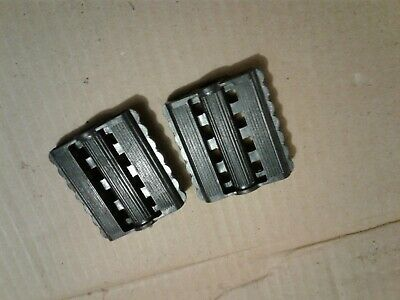 nos pedal car or pedal tractor pedals molded black plastic 7//16