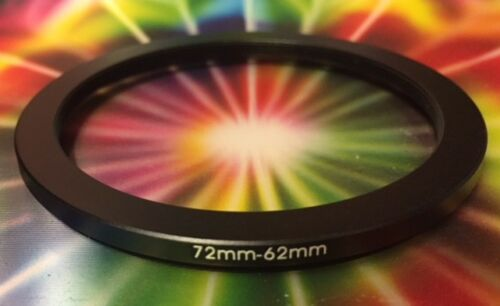 ONE 1 Black 72mm to 62mm 72-62mm Step Down Filter Ring-ADAPTER 72-62 mm METAL