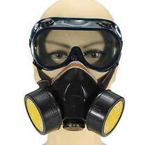 EMERGENCY SURVIVAL SAFETY GAS MASK WITH 2 DUAL DOUBLE PROTECTION FILTER QUALITY