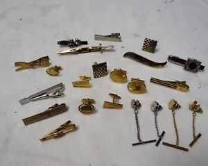 f58332797d9e Nice Lot of Vintage Men's Jewelry MAD MEN Cuff Links, Tie Clips, Tie ...