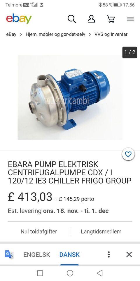 basing pumpe, ebara