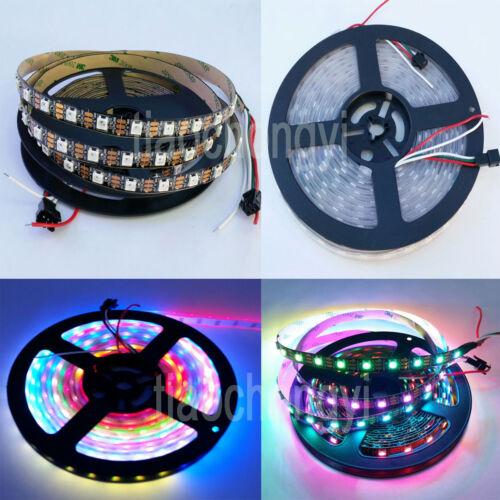 5V WS2812B individual Addressable 5050 RGB 5M 150 300 LED strip 30 60 144 Leds//M
