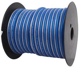 Rockville-R14GBLS100-Silver-Blue-14-Gauge-100-039-Ft-Spool-Car-Audio-Speaker-Wire