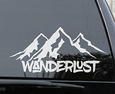 WANDERLUST CAMPING Vinyl Decal Sticker E