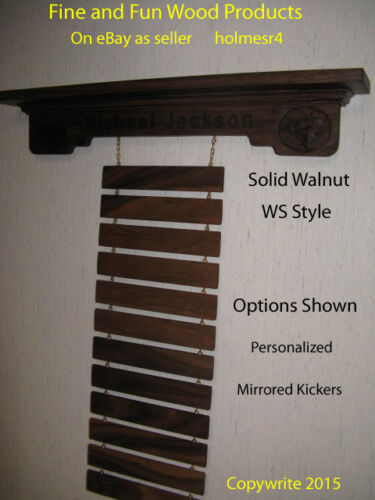 F F Wood Products WS Style Martial Arts Trophy Shelf and Rank Belt Display