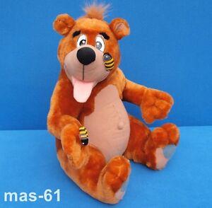 Clowntoys-PELUCHE-TEDDY-ORSO-APE-MIELE-PELUCHE-40-cm-Morbido-Bear