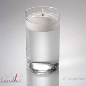 Glass Cylinder Floating Candle Vase 6 Inch Centerpieces Ebay