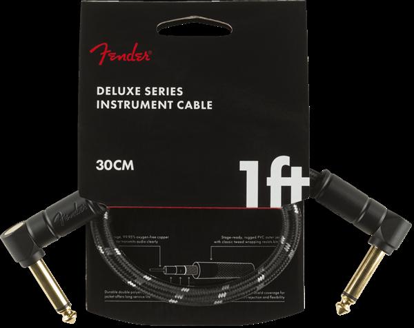Fender Professional Series Instrument Patch Cables 1ft Black