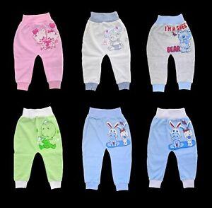 Baby-Ragazzi-e-Ragazze-Pantaloni-Leggings-100-cotone-Taglia-NB-A-18-lav