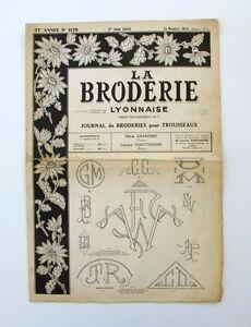La Broderie Lyonnaise N°1120 - 1955 - Broderies Pour Trousseaux - Alphabet - Bpnyngz4-07155432-226857822