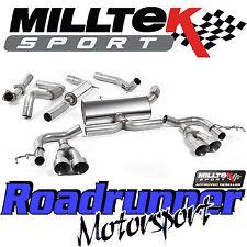 "Milltek Civic Type R FK2 Performance Exhaust 3"" Cat Back Res Titanium Tips EC"