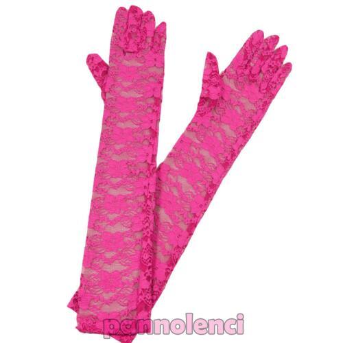 Handschuhe lang Spitze Blumen Karneval Burleske Braut Damenunterwäsche neu A-04