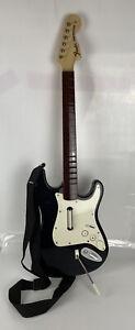 ROCKBAND Harmonix NWGTS2 Fender Stratocaster black guitar w/strap UNTESTED Wii