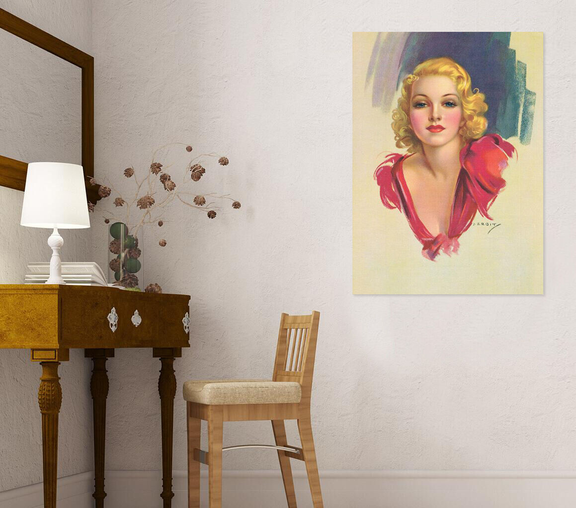 3D Blond redes Kleid Mädchen 96 Fototapeten Wandbild BildTapete AJSTORE DE Lemon