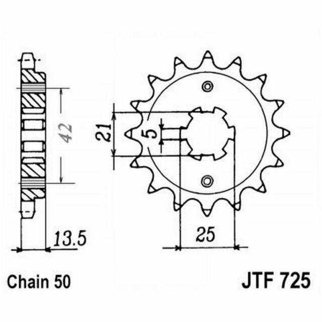 Piñón De Transmisión Acero JT Sprockets 15 Dientes JTF725.15