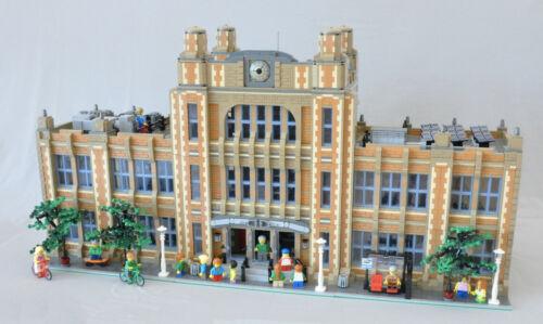 Modular School Bauanleitung für LEGO passt zu 10197 10211 10224 10218 10182