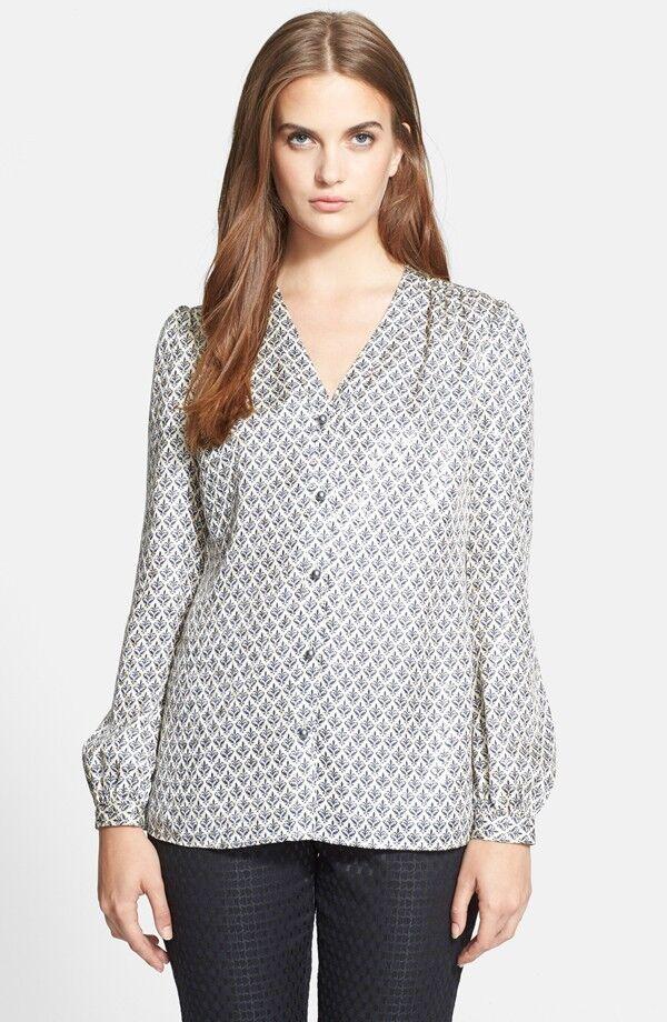 NWT Tory Burch Caralyn Floral Print Shirt Blouse 325 – Größe 14