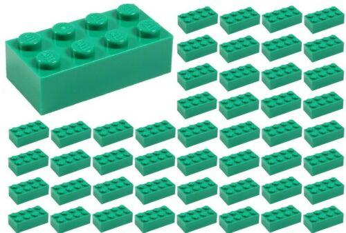 ☀️50x NEW LEGO 2x4 GREEN  Bricks BULK Parts GRASS ID 3001