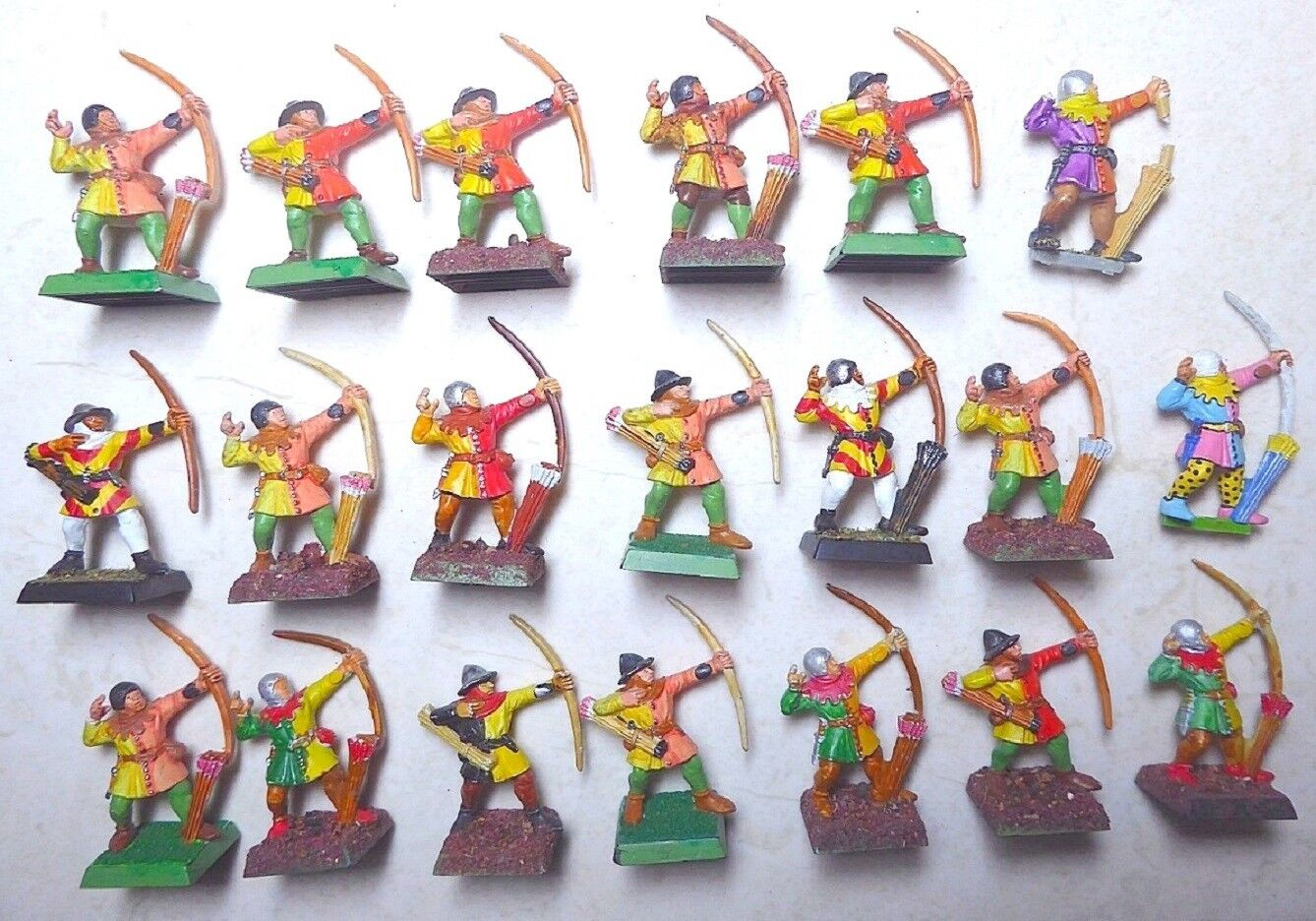 Bretonnian Peasant Archers - WELL PAINTED - HERALDIC COLOURS
