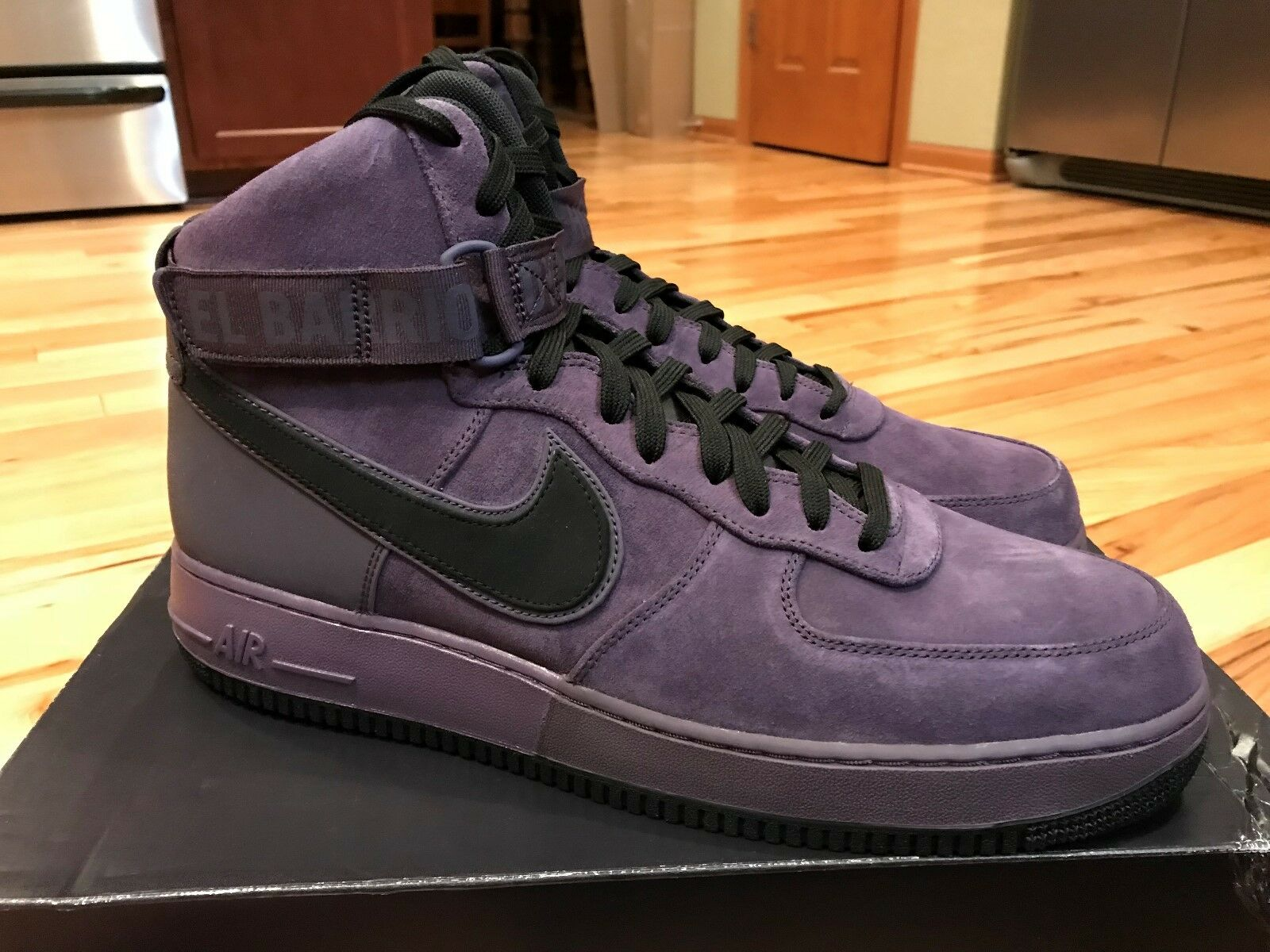 Nike Air Force 1 Harlem One High '07 QS Harlem 1 Uptown Purple 573967-500 Men's Size 14 32f9d6