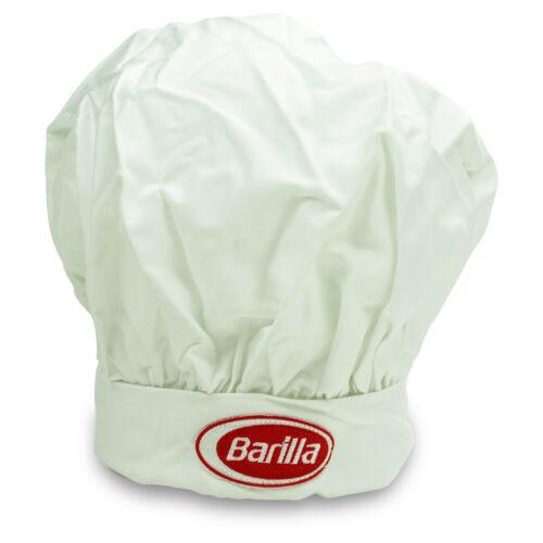 Barilla Pasta Kochmütze weiß verstellbar Neu Bistro Kappe Bäcker Hut Fasching
