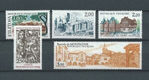 FRANCE-1986-YT-2401-a-2405-TIMBRES-NEUFS-LUXE