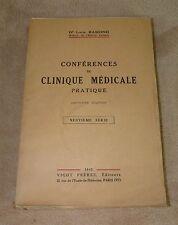 CONFERENCES DE CLINIQUE MEDICALE PRATIQUE 9 EME SERIE - DR RAMOND - VIGOT 1942