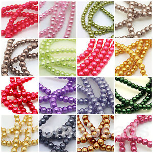 Glass-Faux-Pearl-Beads-choice-of-50-colours-sizes-3mm-4mm-6mm-8mm-10mm-12mm