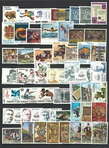 Spanish-Andorra-50-Different-Stamps-All-Mint-Unhinged-MUH