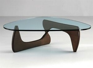 thick glass danish mid century modern tribeca coffee table dark