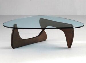 thick glass danish mid century modern tribeca coffee table dark