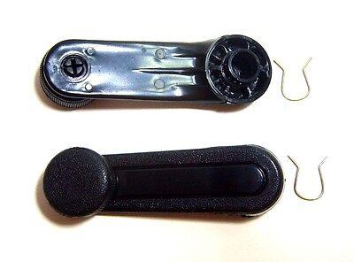 Pair Black Windows Crank Handle Toyota Corolla KE30 KE36 KE35 TE47 31 37 #27BK