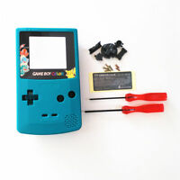 Gbc Nintendo Game Boy Color Replacement Housing Shell Screen Teal Pikachu Usa