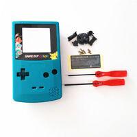 Gbc Nintendo Game Boy Color Replacement Housing Shell Screen Teal Pikachu Usa
