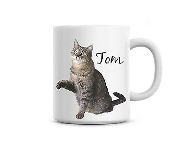 Funny coffee mug cup Custom photo of your cat or pet name personalized free    eBay