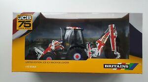 BRITAINS JCB 3CX BACKHOE LOADER 1/32 SCALE - UNION JACK 75TH ANNIV LTD EDITION