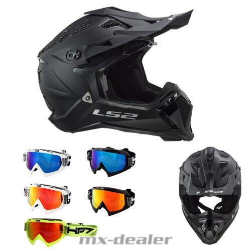 LS2 MX 470 Subverter Noir Matte Black MX Helm HP7 Brille  Crosshelm Motocross
